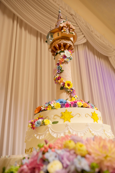 Disney Themed Tangled Wedding Cake