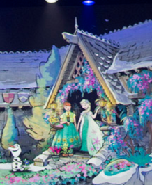More concept art on what Frozen land might look like, as taken from the concept art of the WDW ride. While there isn't a Frozen land, there is still indeed a Frozen-themed ride! [http://thedisneyblog.com/2015/08/19/new-concept-art-from-epcots-frozen-attraction-in-norway/]