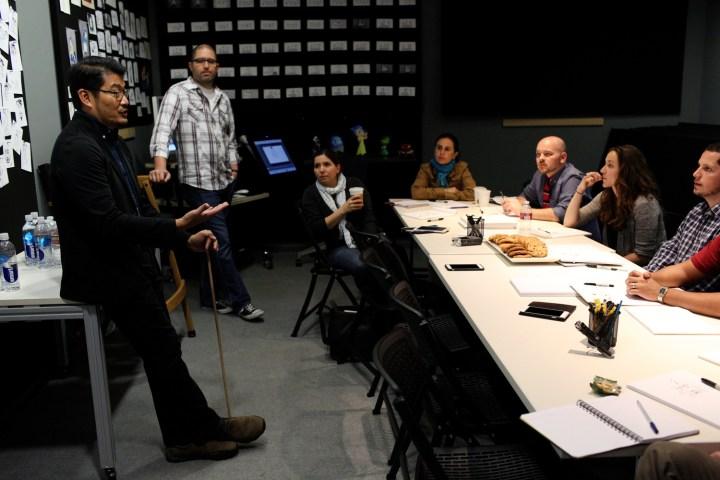 Ronnie Del Carmen Profile DisneyExaminer Pixar Storyboard Meeting