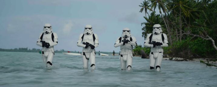 Star Wars Rogue One Stormtroopers Beach