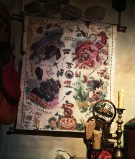 Each Pirates of the Caribbean film is represented in The Map of Mystical Enchantments