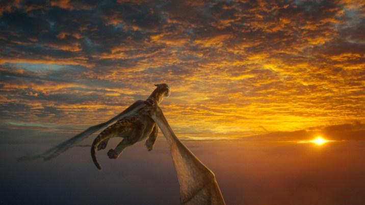 Pete's Dragon Elliot Flying Sunset