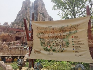 Map of Adventure Isle's Camp Discovery and its Challenge Trails
