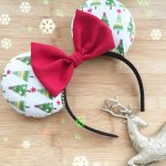Christmas Minnie Mouse Customizable Handmande DIY Ears Etsy HappilyEarAfter