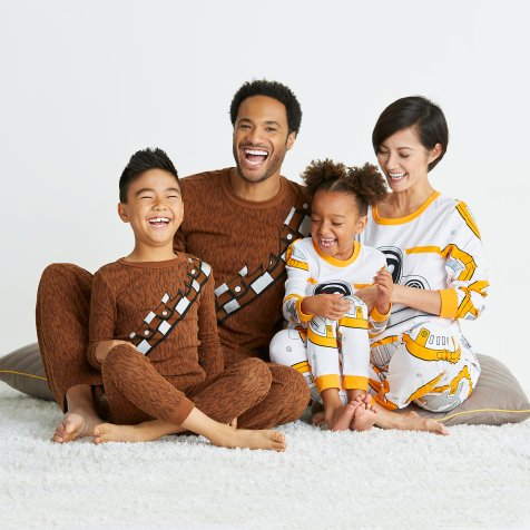 Disney Holiday Season Shopping Black Friday Gift Ideas 2016 Star Wars Family Sleepwear Collection Wookie BB-8 Pajamas
