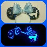 Elsa Frozen Minnie Mouse Customizable Handmande DIY Ears Etsy Earsboutique Glow in the Dark