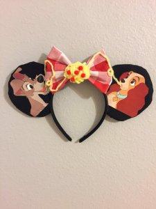 Lady and the Tramp Spaghetti Minnie Mouse Customizable Handmande DIY Ears Etsy TinksTrinketsnCrafts