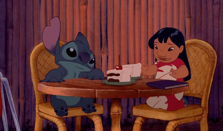 Lilo and Stitch Chocolate Cake Hula Scene