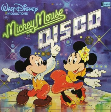 Mickey Mouse Disco Record Vinyl Walt Disney Records Music Cover Minnie Mouse