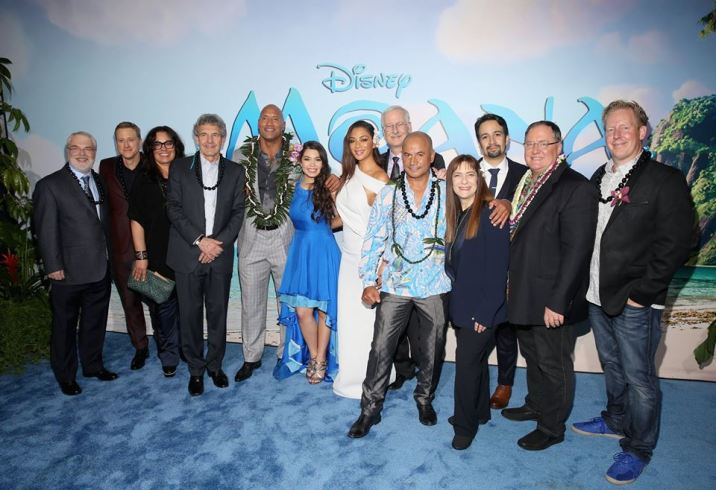 Moana World Premiere El Capitan Theater Theatre Ron Clements Alan Tudyk Rachel House Alan Horn Dwayne Johnson Auli'i Cravalho Nicole Scherzinger John Musker Temuera Morrison Osnat Shurer Lin-Manuel Miranda John Lasseter Jared Bush