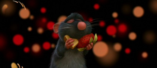 Ratatouille Remy Eating Cheese and Strawberry Taste