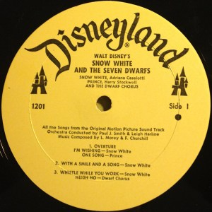 Snow White and the Seven Dwarfs Record Vinyl Walt Disney Records Music