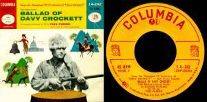 The Ballad of Davy Crockett Vinyl Cover Walt Disney Records Music