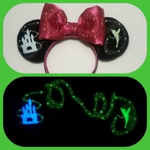 Tinkerbell Castle Disneyland Minnie Mouse Customizable Handmande DIY Ears Etsy Earsboutique Glow in the Dark