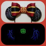 Tower of Terror Disneyland Minnie Mouse Customizable Handmande DIY Ears Etsy Earsboutique Glow in the Dark