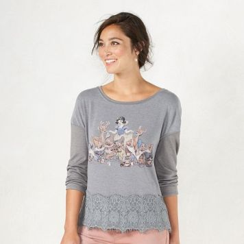 Disney's Snow White A Collection by LC Lauren Conrad Graphic Top Lauren Conrad Kohls Gift Ideas Grown Ups