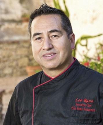 Leo Razo Villa Roma Chef OC Chef's Table Portrait