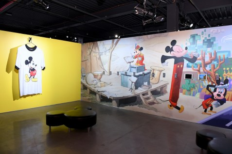 NEW YORK, NY - NOVEMBER 05: Art by Amanda Ross-Ho and John T. Quinn. Mickey: The True Original Exhibition celebrates 90 years of Mickey Mouse's influence on art and pop culture. Opening November 8, 2018 through February 10, 2019, this immersive experience is inspired by Mickey's status as a 'true original' and his consistent impact on the arts and creativity in all its forms. Guests will have the chance to explore the 16,000 square-foot exhibition featuring both historic and contemporary work from renowned artists. The exclusive pop-up retail shop carries special merchandise and offers customization. (Photo by Craig Barritt/Getty Images for Disney)