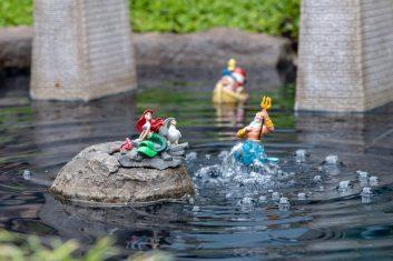 Castle Peak And Railroad Dave Sheegog Mini Disneyland Feature DisneyExaminer Little Mermaid