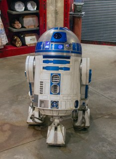 This is not the Droid you are looking for, is it? R2-D2 is for sale, customized to your specifications. The price? $25,000. They will deliver it. Photo by Mark Eades.