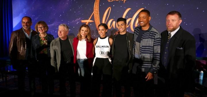 Disney Aladdin Live Action Press Conference Naomi Scott Mena Massoud Will Smith Alan Menken DisneyExaminer