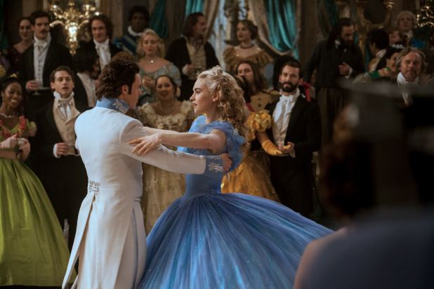 Lily James is Cinderella and Richard Madden is the Prince in Disney's live-action feature inspired by the classic fairy tale, CINDERELLA, which brings to life the timeless images in Disney's 1950 animated masterpiece as fully-realized characters in a visually-dazzlling spectacle for a whole new generation.