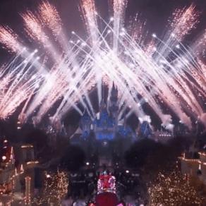 Fuegos artificiales Disneyland