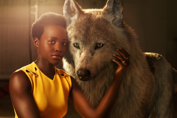 """THE JUNGLE BOOK - Lupita Nyong'o voices Raksha, a mother wolf who cares deeply for all of her pups—including man-cub Mowgli, whom she adopts as one of her own when he's abandoned in the jungle as an infant. """"She is the protector, the eternal mother,"""" says Nyong'o. """"The word Raksha actually means protection in Hindi. I felt really connected to that, wanting to protect a son that isn't originally hers but one she's taken for her own."""" Photo by: Sarah Dunn. ©2016 Disney Enterprises, Inc. All Rights Reserved."""