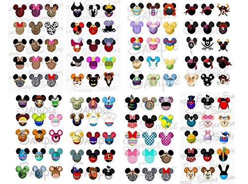 image regarding Printable Nail Decals named Disney Discovery- Disney Nail Decals