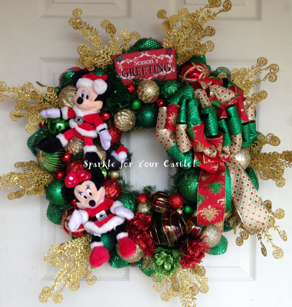 looking for a disney holiday wreath