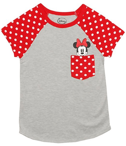 Minnie Mouse T Shirt Design | Disney Discovery Minnie Mouse Pocket Tee Shirt