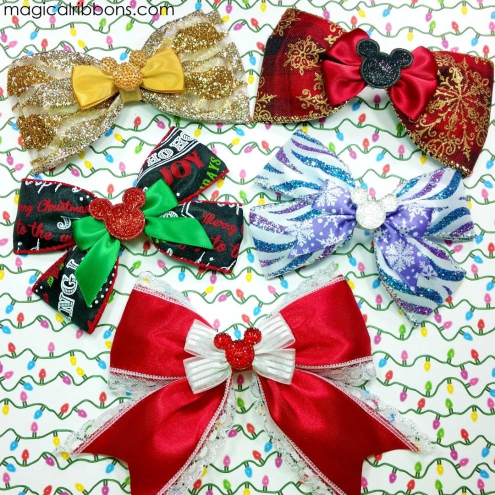 Disney Christmas Bows