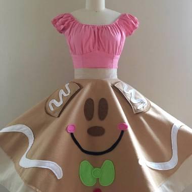 Gingerbread Mickey Skirt