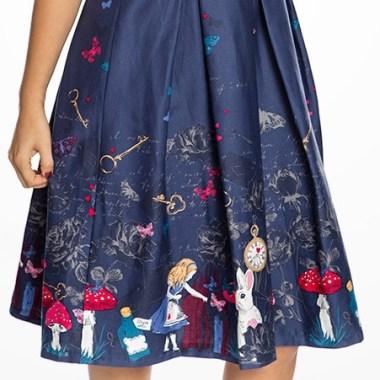 vintage styled Alice in Wonderland dress