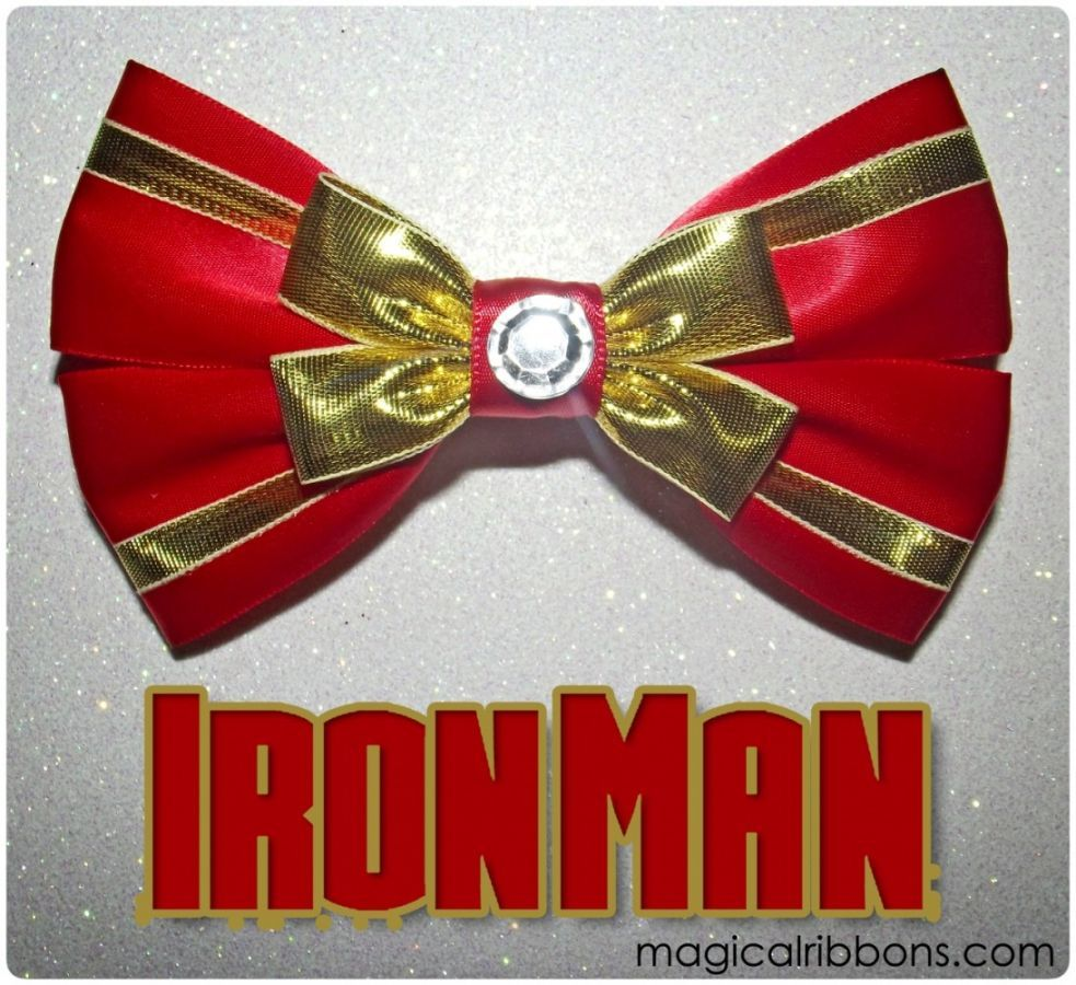these avengers hair bows will give your hair heroic style