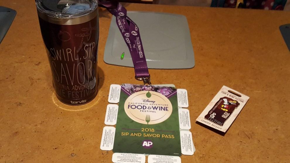 California Adventure Food and Wine Annual Passholder Merchandise
