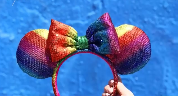 Rainbow Minnie Ears