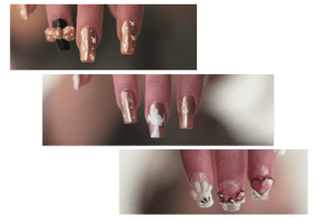 Rose Gold Minnie Manicures