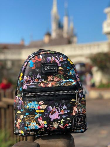 b6e01f2bf24 These backpacks are stupid adorable. There are images of all 4 parks  Magic  Kingdom, Epcot, Hollywood Studios and Animal Kingdom. Cinderella Castle can  be ...