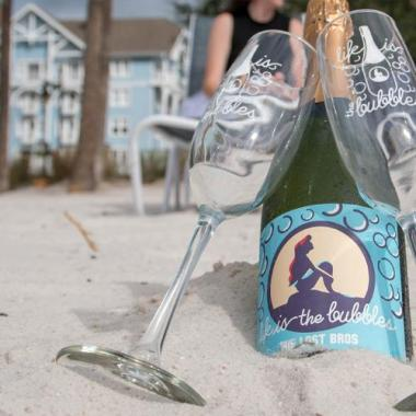 Ariel Inspired Champagne Flutes