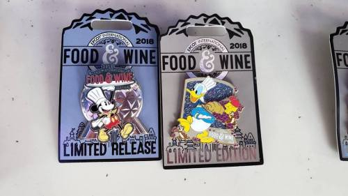 Food and Wine Disney Trading Pins
