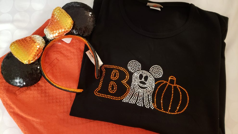 bling out with these rhinestone disney halloween tees