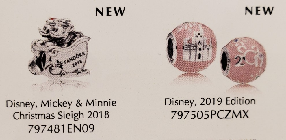 2019 Pandora Christmas Charms Park Exclusive Disney Pandora Charms Coming Later This Year