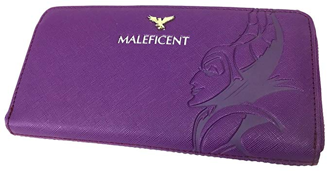 Disney Discovery Loungefly X Maleficent Embossed Zip Wallet