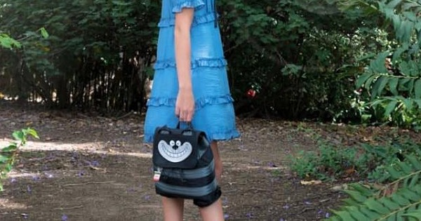 Midnight Cheshire Cat bag