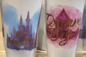 Disney Water Color Travel Mugs