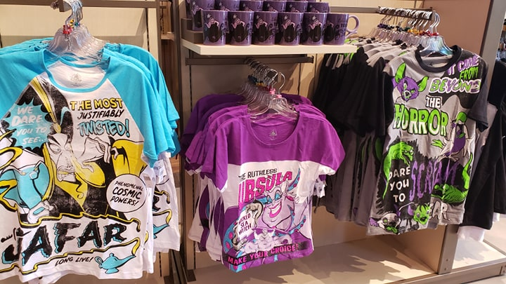 Disney Villains Pulp Magazine Tees