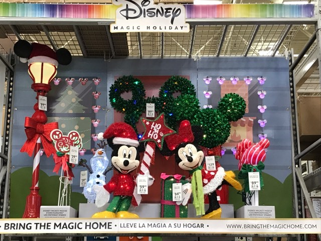 Disney Christmas Decor Makes Its Debut At Lowes