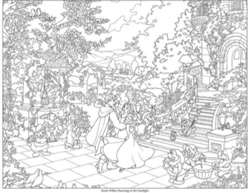 Thomas Kinkade Disney Coloring Book