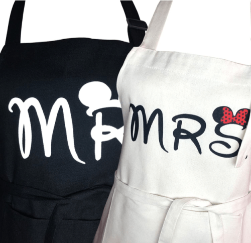 Mr. And Mrs. Apron Set